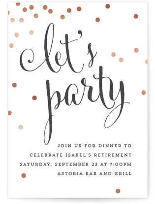 Simply Let's Party Retirement Party Online Invitations