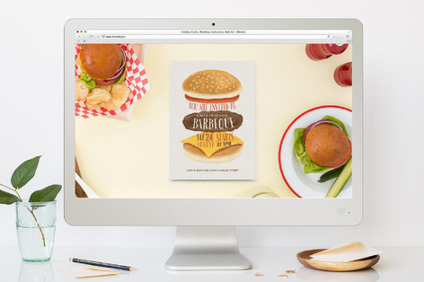 Backyard Burger Summer Party Online Invitations