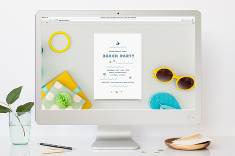 Beach Party Summer Party Online Invitations