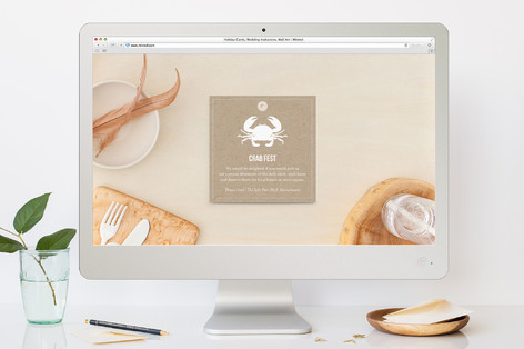 crab fest summer party online invitations by that minted