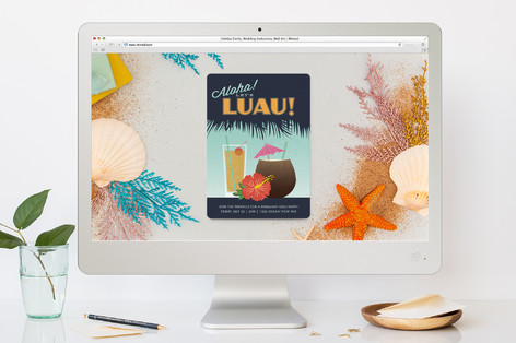 Let's Luau! Summer Party Online Invitations