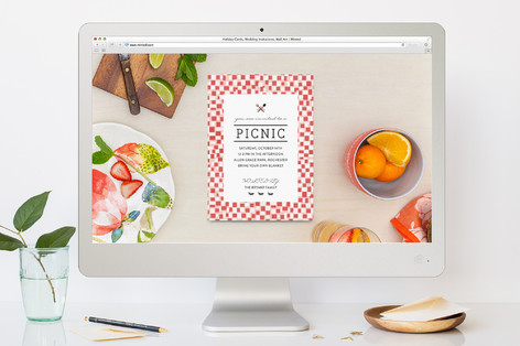Picnic Summer Party Online Invitations