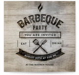 Wood Burning Bbq Party