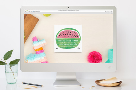 watermelon fun summer party online invitations by minted