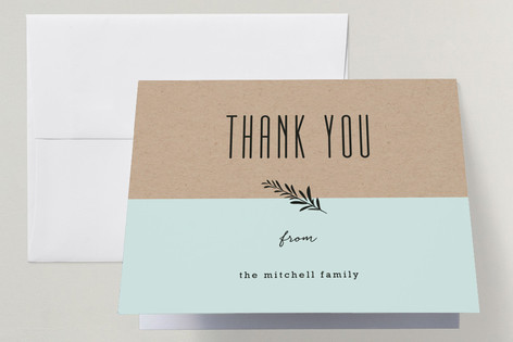 Farm To Table Menu Passover Seder Thank You Cards