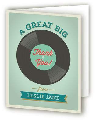 A Record Year Adult Birthday Party Thank You Cards