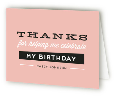 Big Numbers Adult Birthday Party Thank You Cards