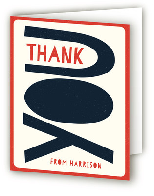 Bold Birthday Adult Birthday Party Thank You Cards