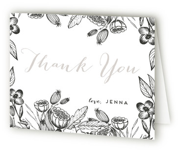 Botanical Adult Birthday Party Thank You Cards