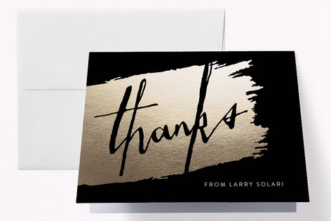 Brushed Cheers Adult Birthday Party Thank You Cards