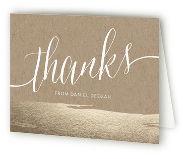 Brushed On Kraft Adult Birthday Party Thank You Cards