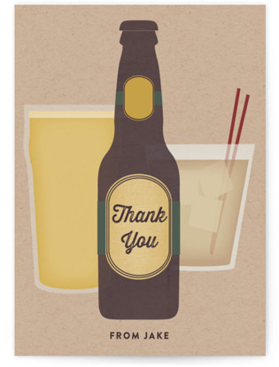 Cheers Adult Birthday Party Thank You Cards