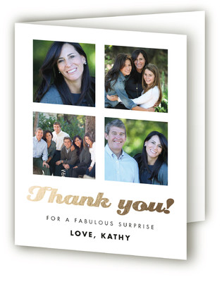 Fab 50 Adult Birthday Party Thank You Cards