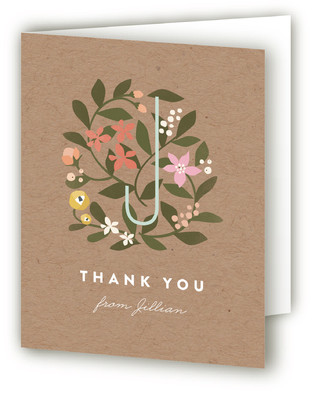 Floral Fete Adult Birthday Party Thank You Cards