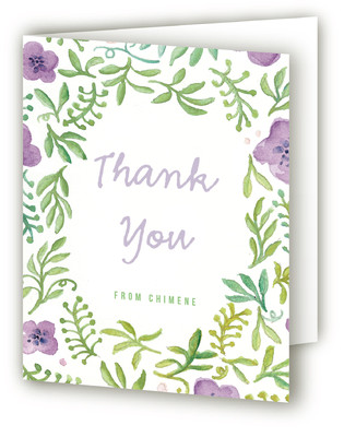 Floral Foliage Adult Birthday Party Thank You Cards