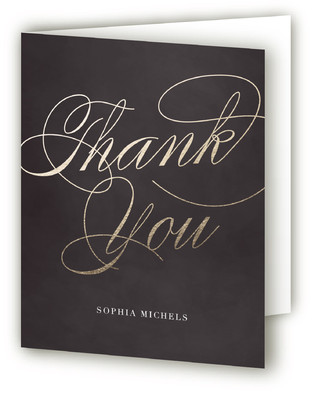 Gilded Cocktails Adult Birthday Party Thank You Cards