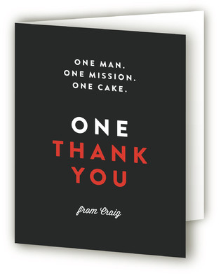 One Cake Adult Birthday Party Thank You Cards
