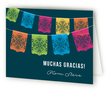 Picado Fiesta Adult Birthday Party Thank You Cards