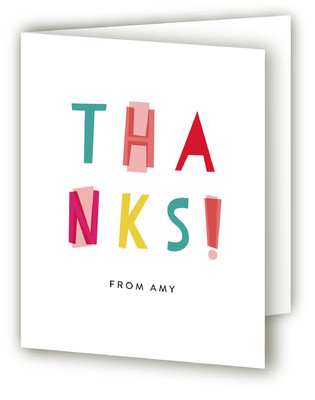 Quirky Surprise Adult Birthday Party Thank You Cards