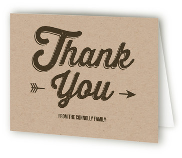Quoted Celebration Adult Birthday Party Thank You Cards