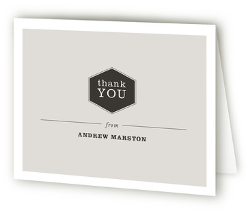 Refined Adult Birthday Party Thank You Cards