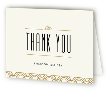 Roaring 20S Birthday Bash Adult Birthday Party Thank You Cards