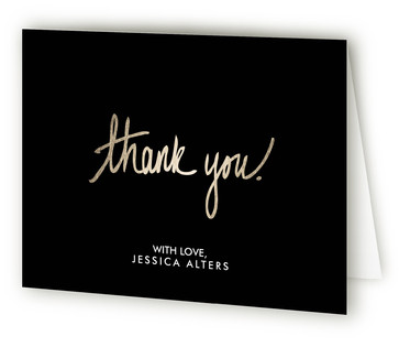 Simply Forty Adult Birthday Party Thank You Cards