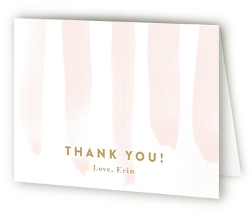 Striped Surprise Adult Birthday Party Thank You Cards