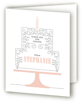 Takes The Cake Adult Birthday Party Thank You Cards