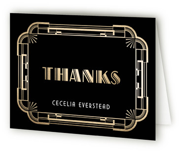 The Roaring 20S Adult Birthday Party Thank You Cards