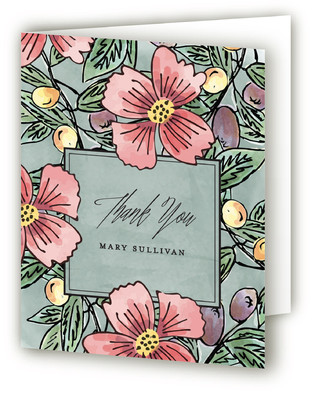 Tuscan Elegance Adult Birthday Party Thank You Cards
