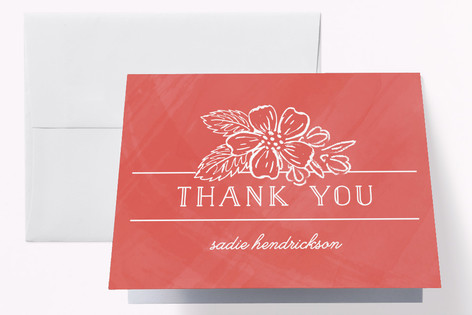 Valentine Elegance Adult Birthday Party Thank You Cards