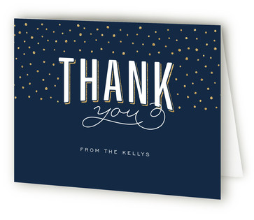 Confetti Surprise Adult Birthday Party Thank You Cards