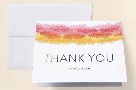 Streamers Adult Birthday Party Thank You Cards