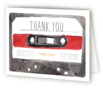 Mix and Mingle Adult Birthday Party Thank You Cards