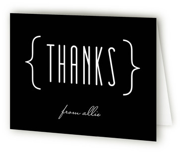 Sleek Chic Adult Birthday Party Thank You Cards
