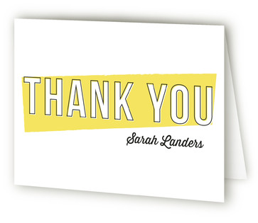 Simple Surprise Adult Birthday Party Thank You Cards