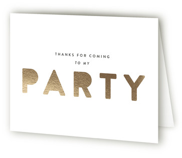 Just Because Adult Birthday Party Thank You Cards