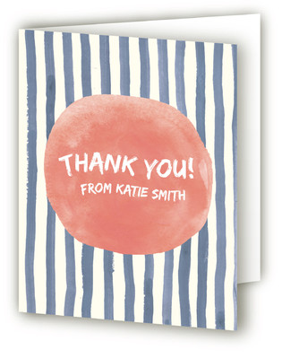Ocean Stripe Adult Birthday Party Thank You Cards