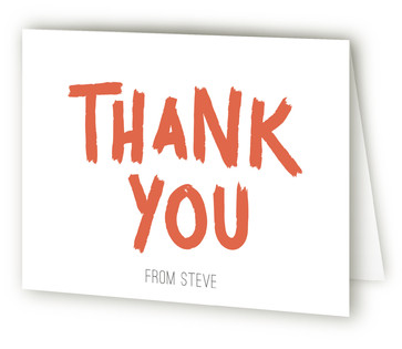 Painted Party Adult Birthday Party Thank You Cards