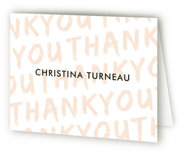 Painted And Pretty Adult Birthday Party Thank You Cards