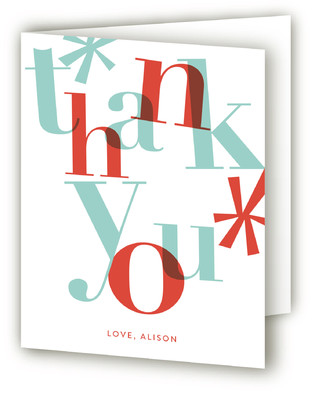 Bright Beginning Adult Birthday Party Thank You Cards