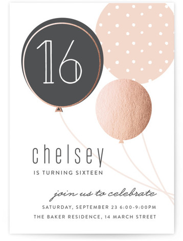 sweet 16 online invitations minted
