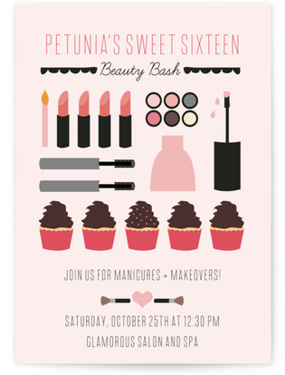 Sweet Sixteen Beauty Bash Teen Birthday Party Online Invitations