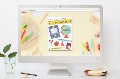 Education Back-To-School Party Online Invitations