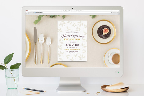 Autumn Feast Thanksgiving Online Invitations