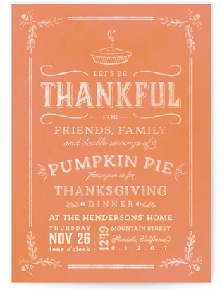 Double Servings Thanksgiving Online Invitations