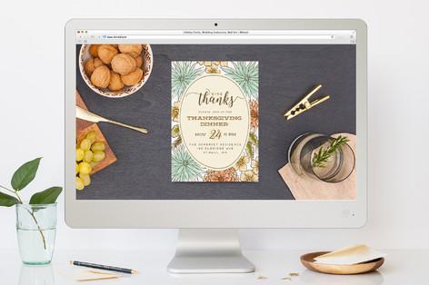 Fall Flowers Thanksgiving Online Invitations