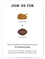 Feasting + Football Thanksgiving Online Invitations