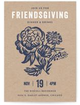 Floral Friendsgiving Thanksgiving Online Invitations